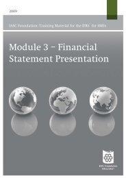 Module 3 – Financial Statement Presentation - Focus IFRS