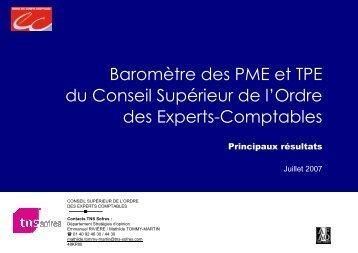 Présentation Baromètre Experts-comptables vague 5 - Ordre des ...