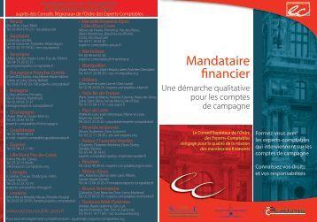 Programme de formation du mandataire financier - Conseil ...