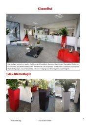 Glasmöbel Glas-Blumentöpfe
