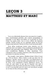 Leçon 3 : Matthieu et Marc
