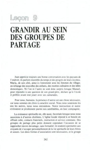 GRANDIR AU SEIN DES GROUPES DE PARTAGE