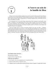 Leçon 1: A l'œuvre au sein de la famille de Dieu