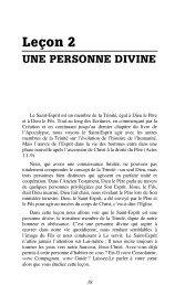 Leçon 2 : Une personne divine