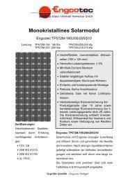Datenblatt Solarmodul Engcotec TP572M-195 ... - Engcotec Gmbh