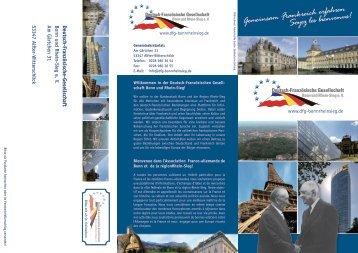 DFG Flyer - Deutsch-Französische Gesellschaft Bonn und Rhein ...