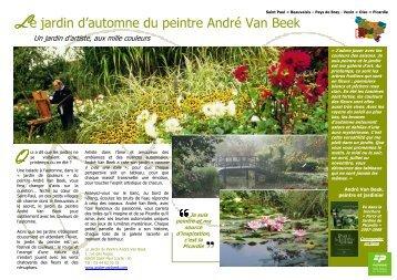 Le jardin d'automne du peintre André Van Beek