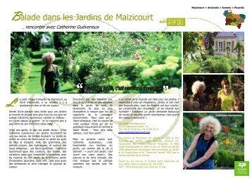 Balade dans les Jardins de Maizicourt - Comité Régional Tourisme ...