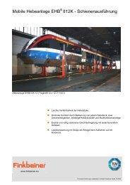 Mobile Hebeanlage EHB 812K - Schienenausführung