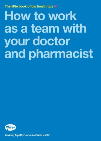 How to work as a team with your doctor and pharmacist - Pfizer.ca