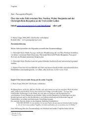 Der intertextuelle Bezug auf die antike Tragödie - Passagenproject