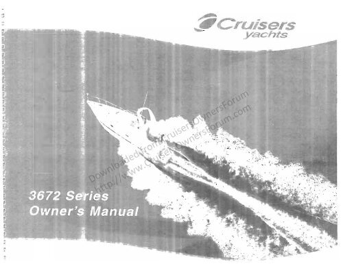 Cruisers Yachts 3672exp 3772exp 370exp Owner S Manual Cruisers
