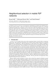 Neighborhood selection in mobile P2P networks - Planete - Inria