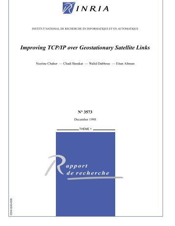 Improving TCP/IP over Geostationary Satellite Links - Planete - Inria