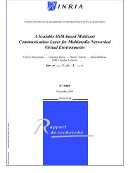 A Scalable SSM-based Multicast Communication ... - Planete - Inria