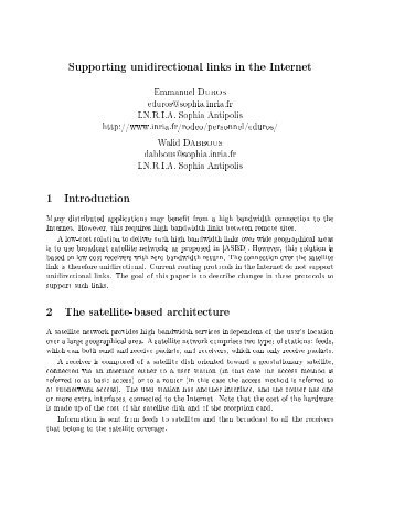 Supporting unidirectional links in the 1nternet 8mmanuel PRRVS ...