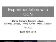 Experimentation with CCN - Planete - Inria