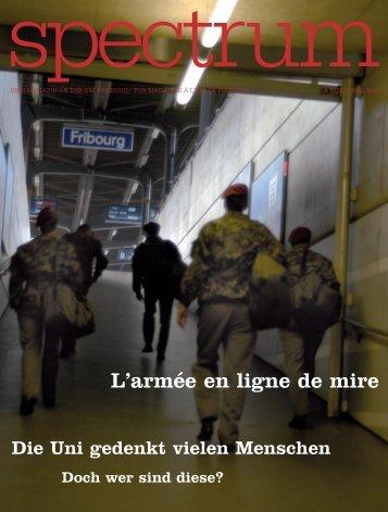 L'armée en ligne de mire - Université de Fribourg