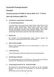 Fachschaft Theologie Deutsch