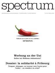 Dossier: la solidarité à Fribourg Werbung an der Uni - Université de ...