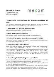 Protokoll GV HS 2011