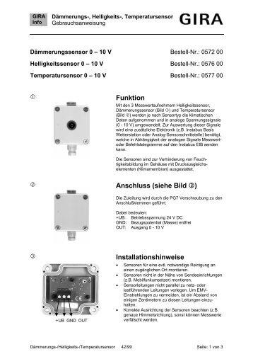 Dämmerungs-, Helligkeits-, Temperatursensor