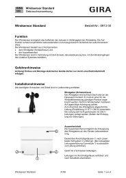Windsensor Standard Art. Nr.: 913 00 - Gira