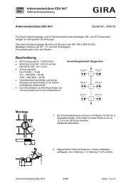 Antennensteckdose EDU 04 F Art. Nr.: 046 00 - Gira