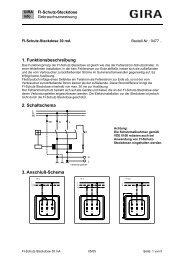 FI-Schutz-Steckdose mit Verbindungsleitern, 30 mA ... - Gira