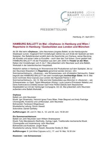 Vorschau Mai - Hamburg Ballett