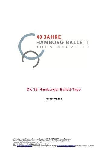 Pressemappe - Hamburg Ballett
