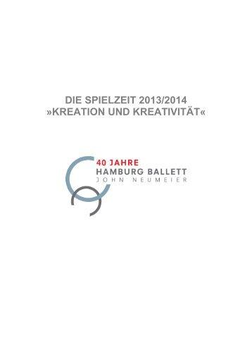 Spielzeit 2013/2014 - Hamburg Ballett
