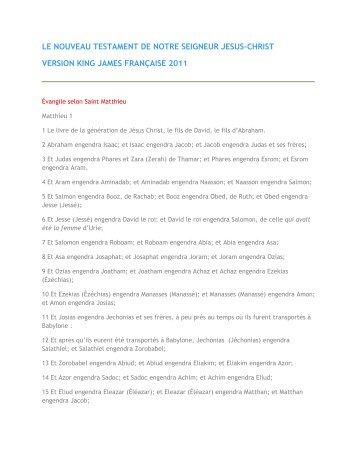 Télécharger le Nouveau Testament complet révisé 2011 ... - 456-Bible