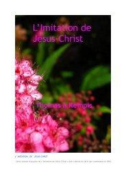 IMITATION DE JESUS-CHRIST Cette version française ... - 456-Bible