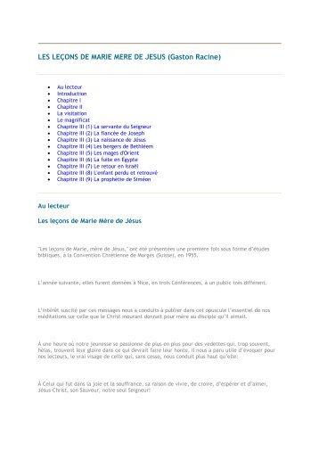 LES LEÇONS DE MARIE MERE DE JESUS (Gaston ... - 456-Bible