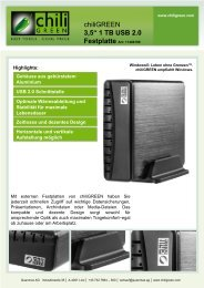 3,5'' 1 TB USB 2.0 Festplatte Art:  11400199 - Chiligreen