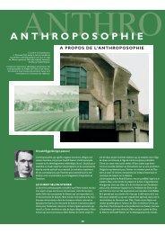 ANTHROPOSOPHIE - Campus pour Christ