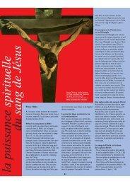 La puissance spirituelle du sang de Jésus - Campus pour Christ