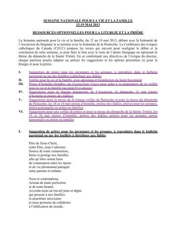 Lien aux ressources (PDF) - Conférence des évêques catholiques ...