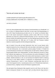 Technik als Funktion der Kunst - Klaus Geldmacher