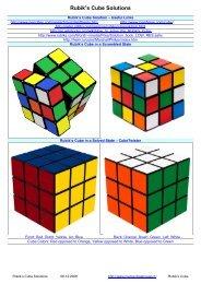 Rubik's Cube Solutions - mementoslangues.fr