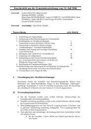 Kurzbericht aus der Gemeinderatssitzung vom 14. Juli 2006 - Remich