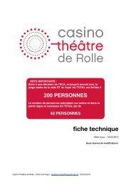 fiche technique casino rolle 2012