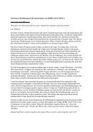 Eine kurze Einführung in die Internetseite von RORE SANCTIFICA ...