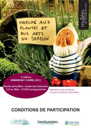CONDITIONS DE PARTICIPATION - MuSées de Sarreguemines