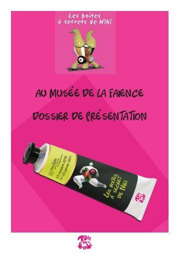 Au Musée de lA FAience dOssieR de pRésentAtiOn - MuSées de ...