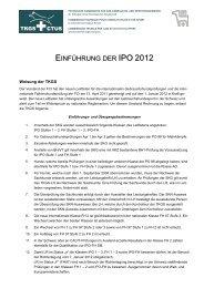 Einführung IPO 2012