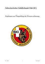 Wesensprüfungsreglement für Deutsche Schäferhunde