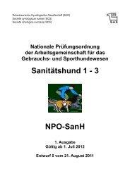 Sanitätshund 1 - 3 NPO-SanH