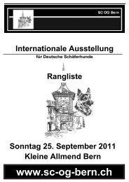 Int. Ausstellung 2011 - SC OG Bern